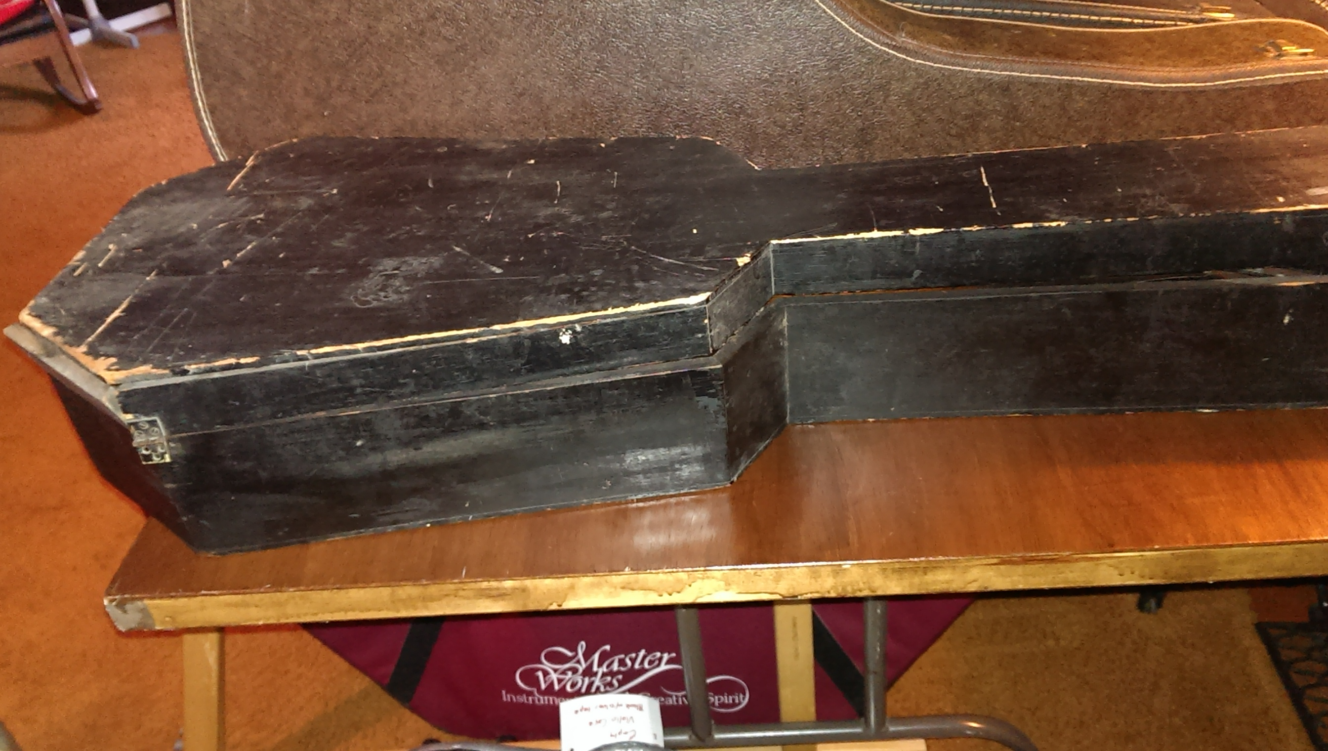 1870s guitar - coffin case